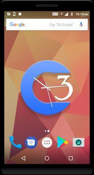 Blue Clock Live Wallpaper apk screenshot