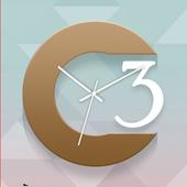 Brown Clock Live Wallpaper icon