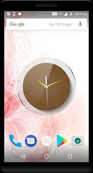 Brown Clock Live Wallpaper apk screenshot