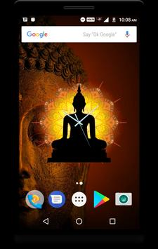 Buddha Clock Live Wallpaper screenshot 1