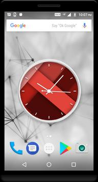 Crimson Clock Live Wallpaper poster