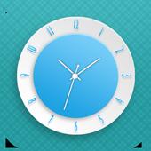 Cyan Clock Live Wallpaper icon