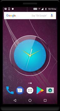 Cyan Clock Live Wallpaper poster