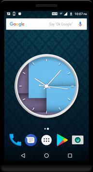 Cyan Clock Live Wallpaper apk screenshot