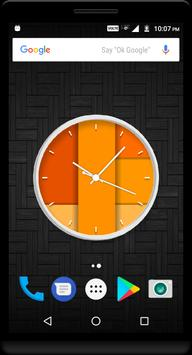 Orange Clock Live Wallpaper poster