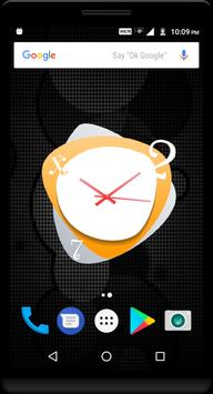 Orange Clock Live Wallpaper apk screenshot