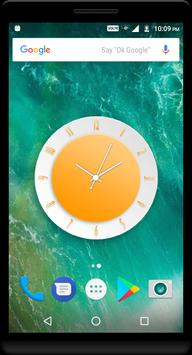 Orange Clock Live Wallpaper screenshot 4