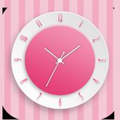 Pink Clock Live Wallpaper icon