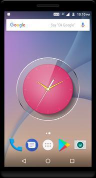 Pink Clock Live Wallpaper apk screenshot