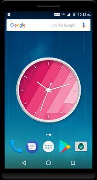 Pink Clock Live Wallpaper poster