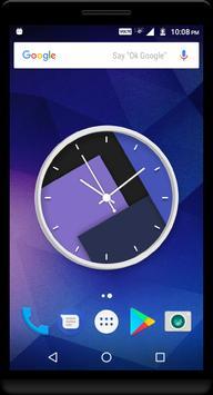 Purple Clock Live Wallpaper poster