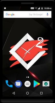 Red Clock Live Wallpaper poster