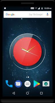Red Clock Live Wallpaper screenshot 1