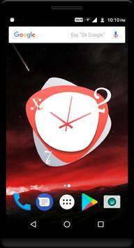 Red Clock Live Wallpaper screenshot 4