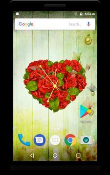 Rose Clock Live Wallpaper apk screenshot