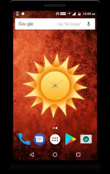Sun Clock Live Wallpaper poster