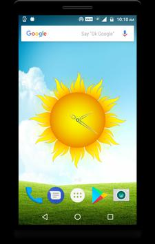 Sun Clock Live Wallpaper apk screenshot
