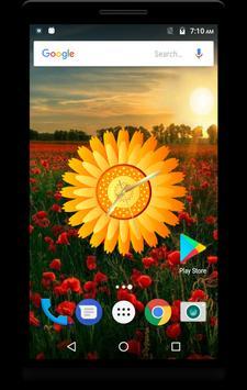 Sunflower Clock Live Wallpaper apk screenshot
