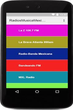 Radios: Musica Mexicana Gratis apk screenshot