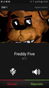 Fake Call from Freddy Five Night apk screenshot