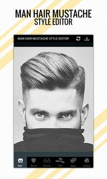 Man Hair Mustache Style Editor Pro poster