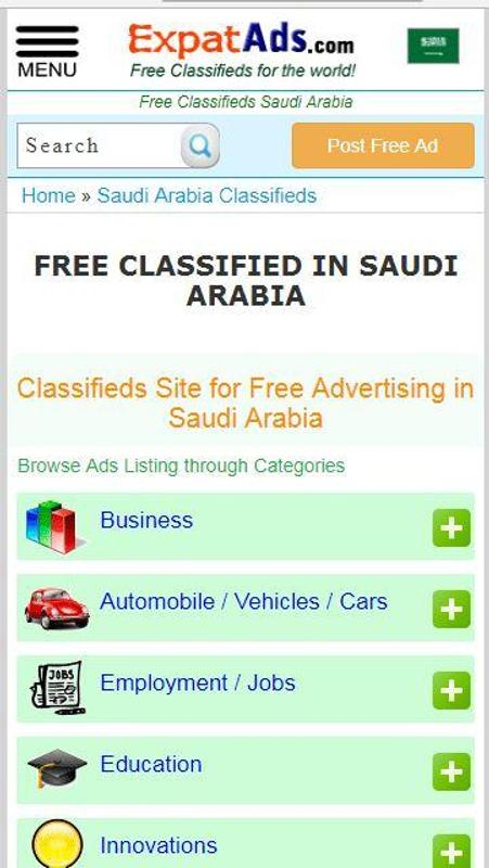 2d12f566da Saudi Arabia Free Classifieds Ads KSA Saudi app for Android - APK ...