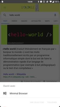 Minimal browser apk screenshot