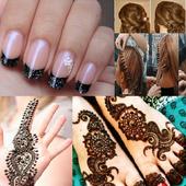 Hair styles,Nail Paint,Mehendi icon