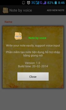 Note by Voice apk screenshot