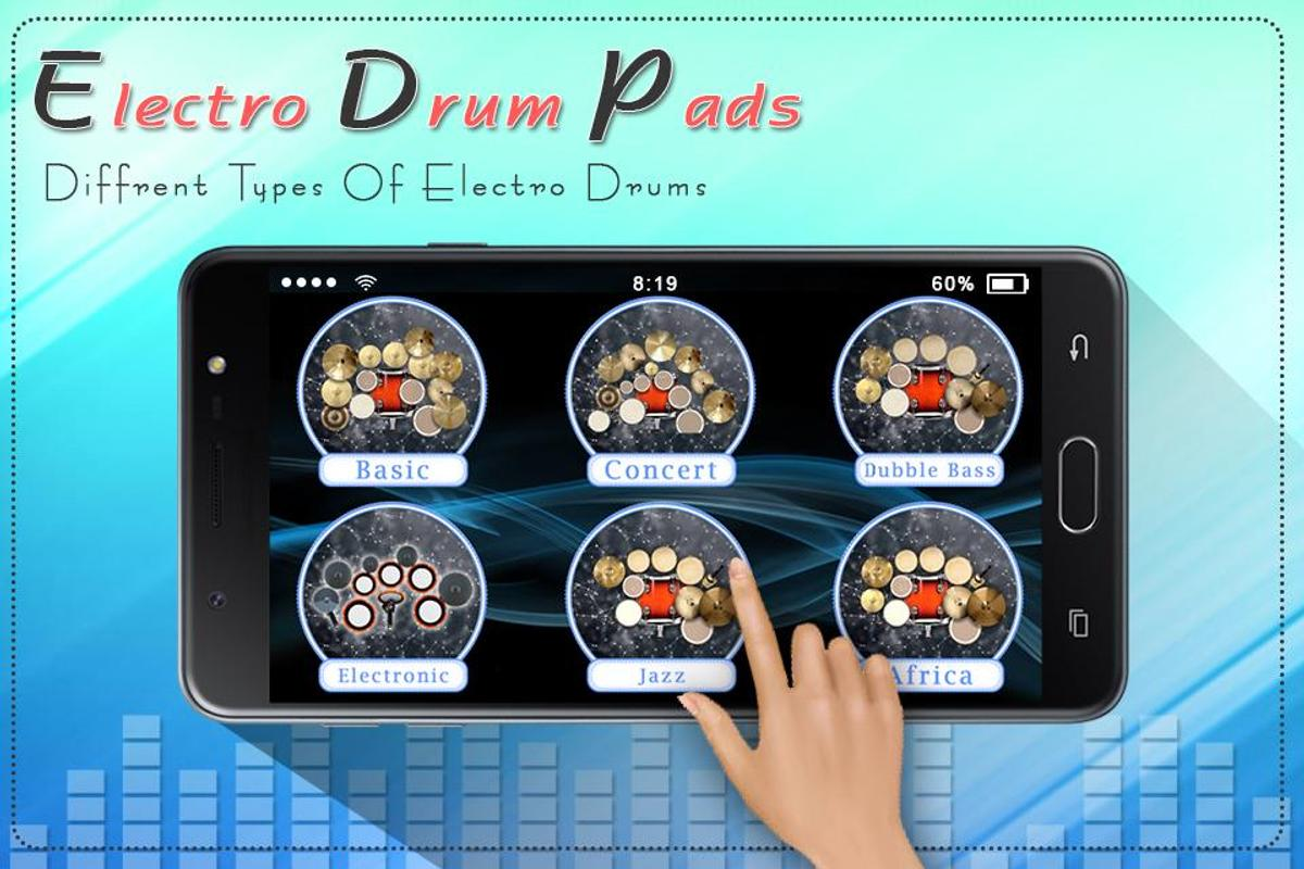 electro music drum pads real drums music game for android apk download. Black Bedroom Furniture Sets. Home Design Ideas