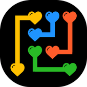 Match The Hearts Puzzle Free - Connect the dots icon