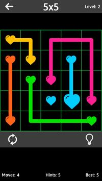 Match The Hearts Puzzle Free - Connect the dots poster