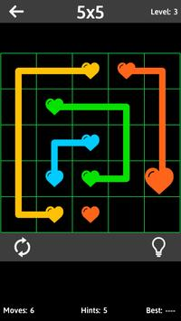 Match The Hearts Puzzle Free - Connect the dots screenshot 1