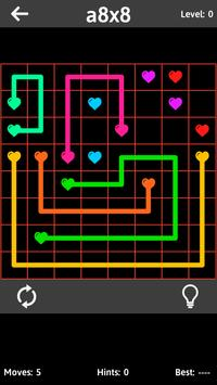 Match The Hearts Puzzle Free - Connect the dots screenshot 2