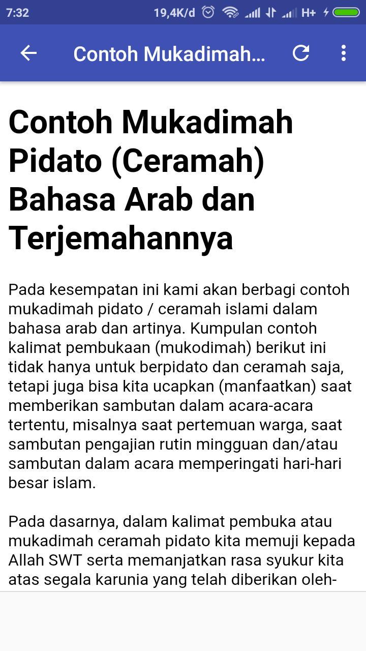 Contoh Mukadimah Pidato For Android Apk Download