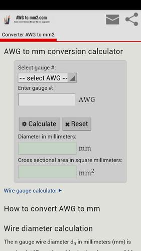 Conversion Awg To Mm2 For Android Apk Download