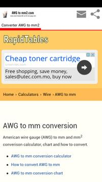 Conversion awg to mm2 apk download free education app for android conversion awg to mm2 apk screenshot greentooth Images