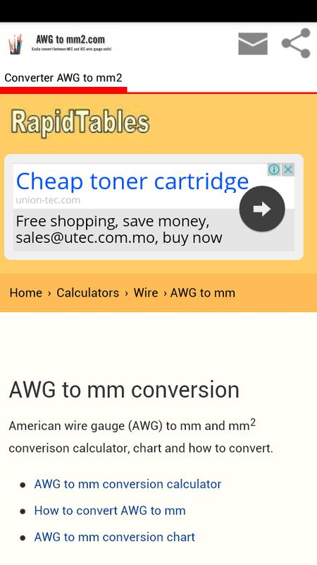 Conversion awg to mm2 apk download free education app for android conversion awg to mm2 apk screenshot greentooth Gallery