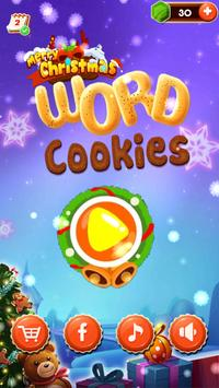 Merry Christmas Word Cookies poster
