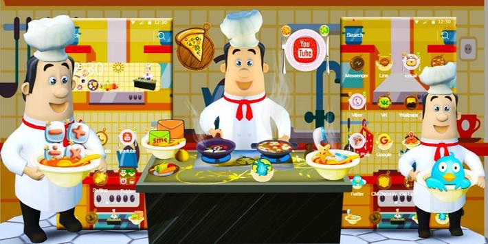 3D Cooking Man Theme screenshot 3