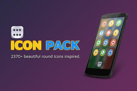 Best Round Icon Pack Theme poster