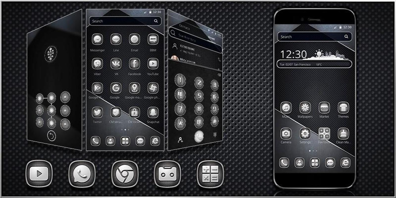 cool black metal theme for android apk download