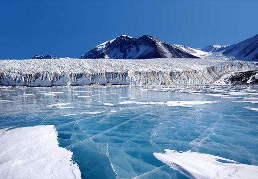 Blue Glaciers Wallpapers FREE poster