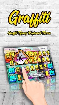Cool Graffiti Theme&Emoji Keyboard poster