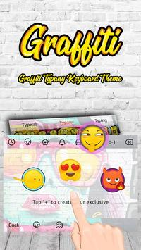 Cool Graffiti Theme&Emoji Keyboard apk screenshot
