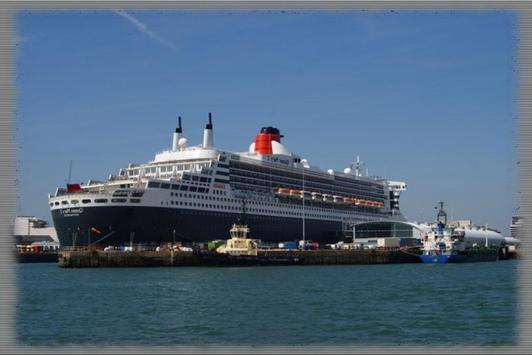 Cruise Liner Ships Wallpaper poster