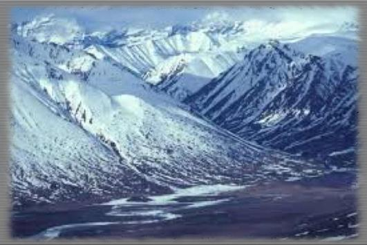 Snowy Mountains Wallpaper poster