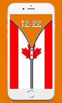 Canada Flag Screen lock screenshot 3