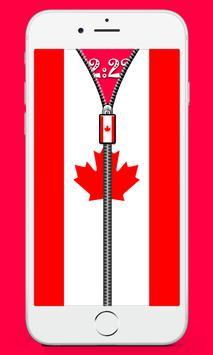 Canada Flag Screen lock poster