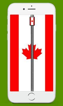 Canada Flag Screen lock screenshot 1